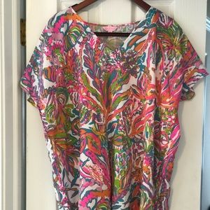 Lilly Pulitzer Scuba to Cuba cover up dress